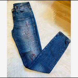 Mavi Alexa Mid-rise Skinny Jeans w. Paint size 27
